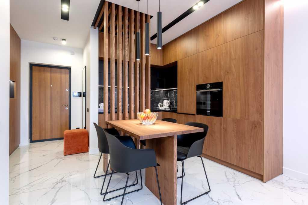 luksuzne nekretnine slika luksuzne kuhinje u stanu